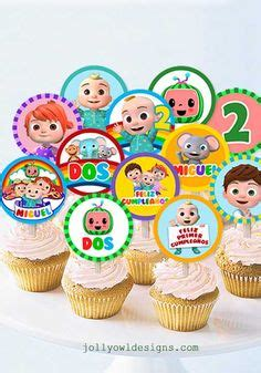 Baby boy cakes cakes for boys 2nd birthday parties birthday cake cake smash princess peach cake ideas cake toppers party. Cocomelon Edible Image Cupcake Cookie Topper in 2020 ...