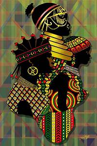 African Women Painting by James Mingo