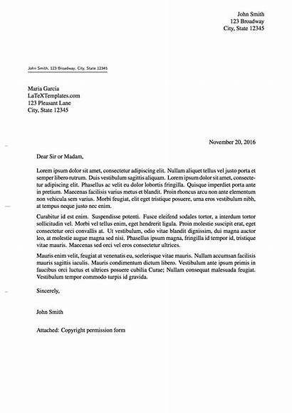 Formal Letter Template Templates Latex