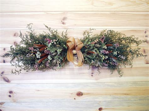 Dry Flowers Decoration For Home: RUSTIC Country Dried Flower Swag Open Farmhouse Wall Decor