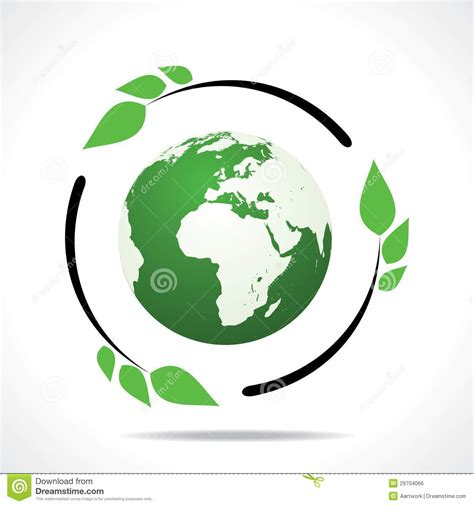 environment friendly design eco friendly earth with green leaf design stock vector illustration of circle green 29704066