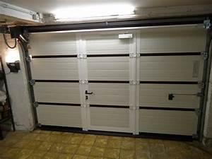portes sectionnelles avec portillon incopore With porte de garage novoferm prix
