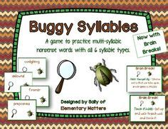 syllable images syllable phonics teaching reading