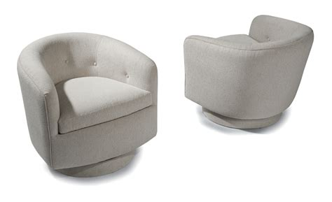 Milo Baughman Swivel Tub Chair by Swivel Tilt Tub Chair By Milo Baughman From Thayer Coggin