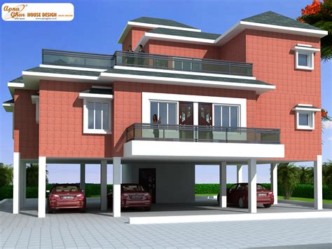 photo of modern stilt house plans ideas this is a beautiful four bedrooms duplex house design