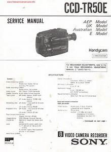 Sony Ccd F375e Service Manual Sony Video Camera Recorder 8 Video8 Instruction Manual Ccd