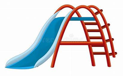 Cartoon Slide Playground Toy Illustration Children Colorful