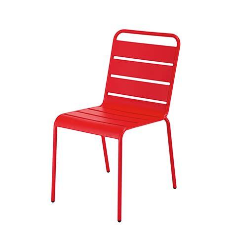 chaise de jardin empilable chaise de jardin empilable en métal batignolles