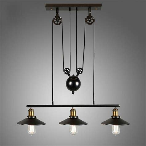 loft vintage pulley pendant ceiling light hanging l artistic lighting fixture ebay