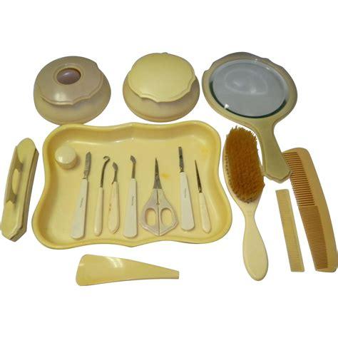 celluloid vanity dresser set 17 ivory celluloid vanity dresser set from