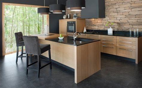 cuisine ardoise et bois cuisine notre futur petit nid