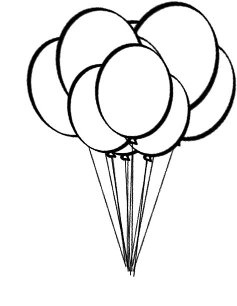 balloon coloring pages balloons coloring page coloring home