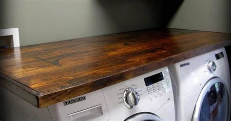 laundry wood countertop kitchen