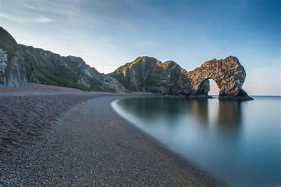 England Coast Rocks Durdle Door Coastline 1920