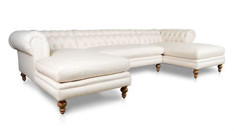 chaise chesterfield cococohome chesterfield chaise fabric sectional made in usa