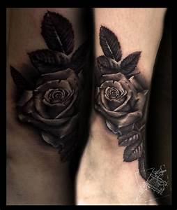 Rosen Tattoos Schwarz : realistic tattoo von xavielle schwarze rose tattoo in ~ Frokenaadalensverden.com Haus und Dekorationen