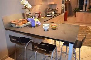 Table Plan De Travail Cuisine : ambiance cuisine meubles contarin ~ Melissatoandfro.com Idées de Décoration