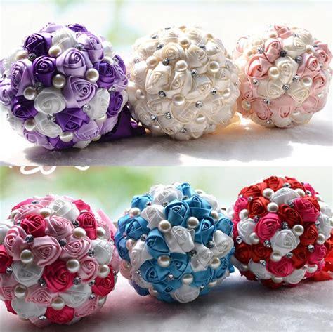luxury bridal wedding bouquet cheap artificial cream