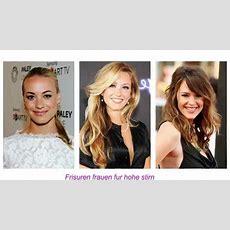 Frisuren Frauen Für Hohe Stirn Youtube