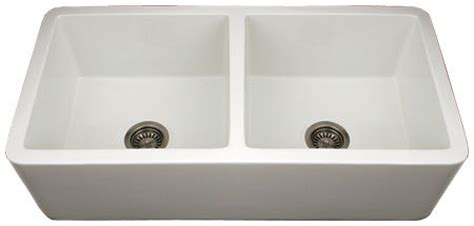 faucets kitchen sink whitehaus wh3719 bi duet reversible undermount fireclay 3719