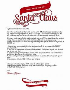 letter from santa template word photographer With santas official letters