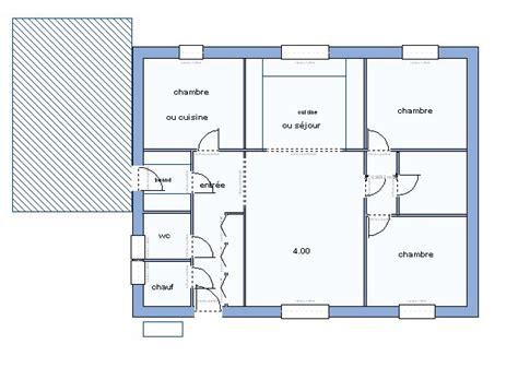 plan de maison 3 chambres salon nouveau plan nouveaux problemes pp 90m2 entree sud 22