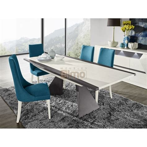tables contemporaines salle manger table salle 224 manger contemporaine extensible laque et bois diamant