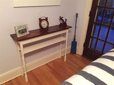 ana white guest room stair baluster accent table diy