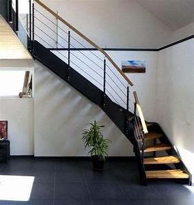 Escalier Loft Quart Tournant Avec Doubles Limons Droits