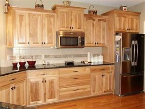Natural Hickory Cabinets on Pinterest