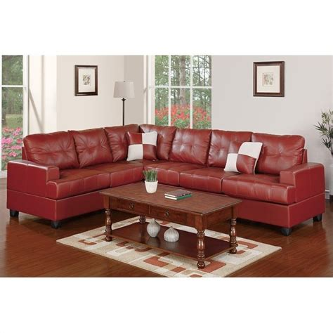 Poundex Reversible Sectional Sofa by Poundex Bobkona 2 Reversible Sectional Sofa In