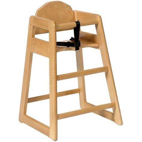 chaise haute en bois pour bébé chaise haute sans plateau pour enfant simplex bois clair