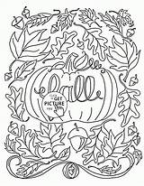 Coloring Fall Pages Autumn Printables Leaves Toddlers Wuppsy Tags sketch template