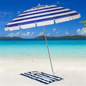 parasol 8 ft gradation blue awning stripe beach umbrella at hayneedle