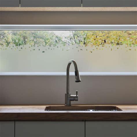 stickers vitres cuisine sticker occultant pour vitre et fenêtre rideau cubes