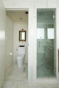 Innovative elongated toilet seat in Bathroom Contemporary