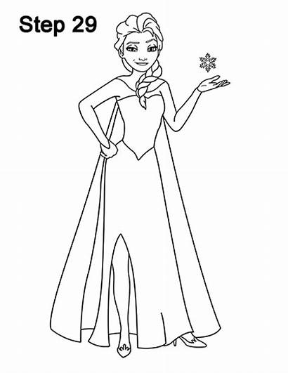 Elsa Frozen Draw Drawings Drawing Sketch Disney