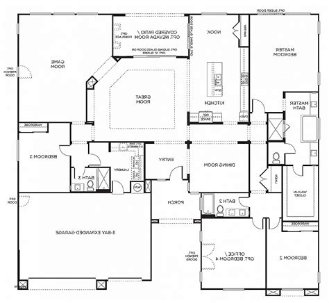 6 bedroom house floor plans house plan awesome 6 bedroom house plans one level 6