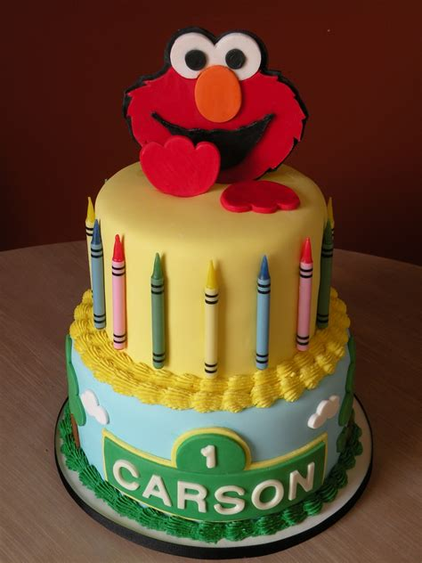 elmo st birthday cake cakecentralcom