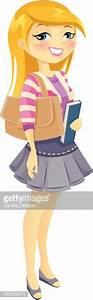 Blonde cartoon girl school clipart - Clipart Collection ...