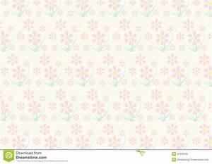 Vintage Pink Flower Pattern On Pastel Color Stock Vector ...