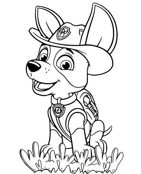 tracker psi patrol kolorowanka do druku malowanka kolorowanki