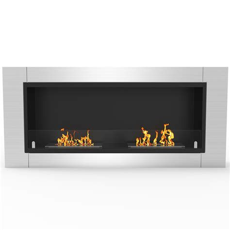ventless fireplace insert ethanol fargo 43 inch ventless built in recessed bio ethanol wall