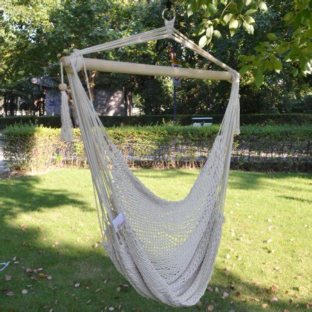 sunrise outdoor patio hanging swing cotton rope hammock chair    lbs walmartcom