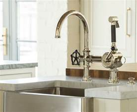 Industrial Kitchen Sink Faucet Family Home With Timeless Interiors Home Bunch Interior Design Ideas