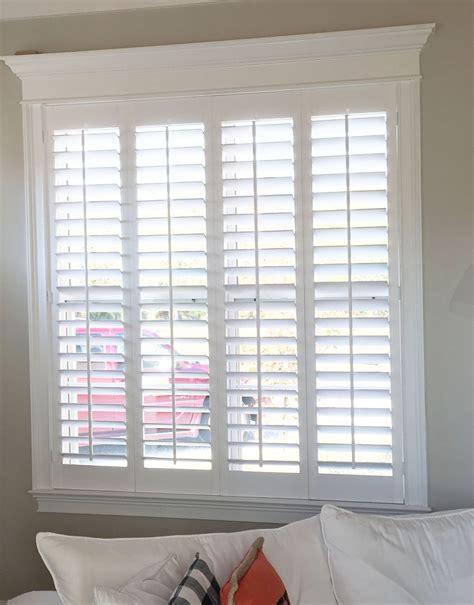simple  elegant plantation shutters   perfect