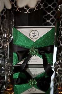 pinterest o the worlds catalog of ideas With black white and emerald green wedding invitations