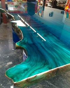 Colour epoxy blue ocean designed by Ccoating nl resin