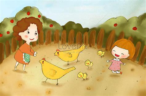 35 trend terbaru gambar kartun anak memberi makan ayam