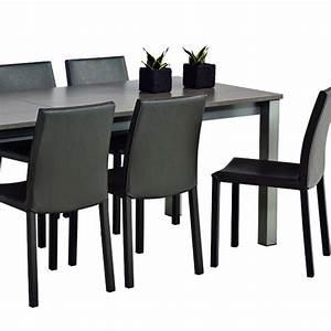 chaise de salle a manger contemporaine en synthetique With salle À manger contemporaineavec chaises contemporaines salle manger